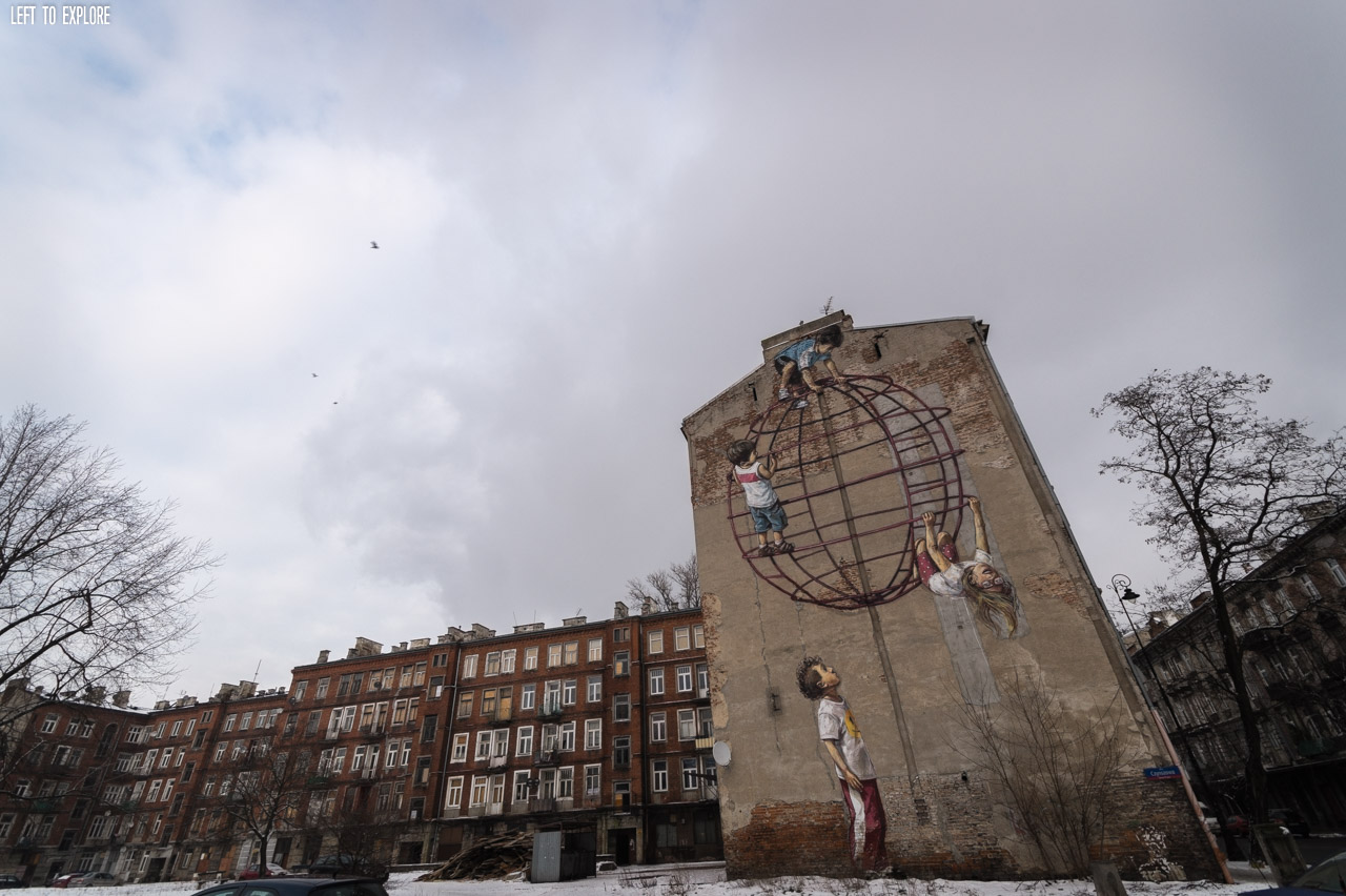 Mural przy ulicy Stalowej